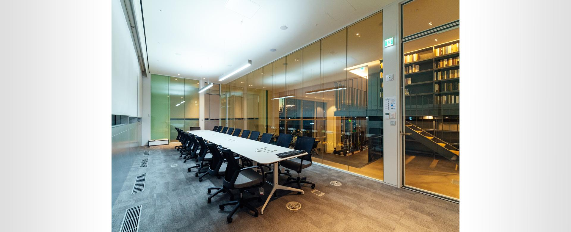 full height stability technical panels room booking